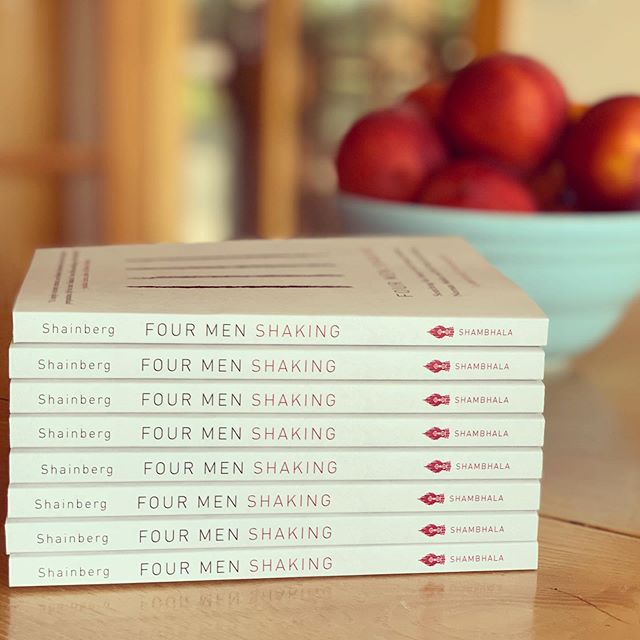 "Fresh copies of my new book ""Four Men Shaking: Searching for Sanity with Samuel Beckett, Norman Mailer and My Perfect Zen Teacher"" have arrived. The publication date is July16th. First public reading will be at the Truro Library on July 24th #zen #memoir #buddhism #samuelbeckett #normanmailer #meditation #booklaunch"
