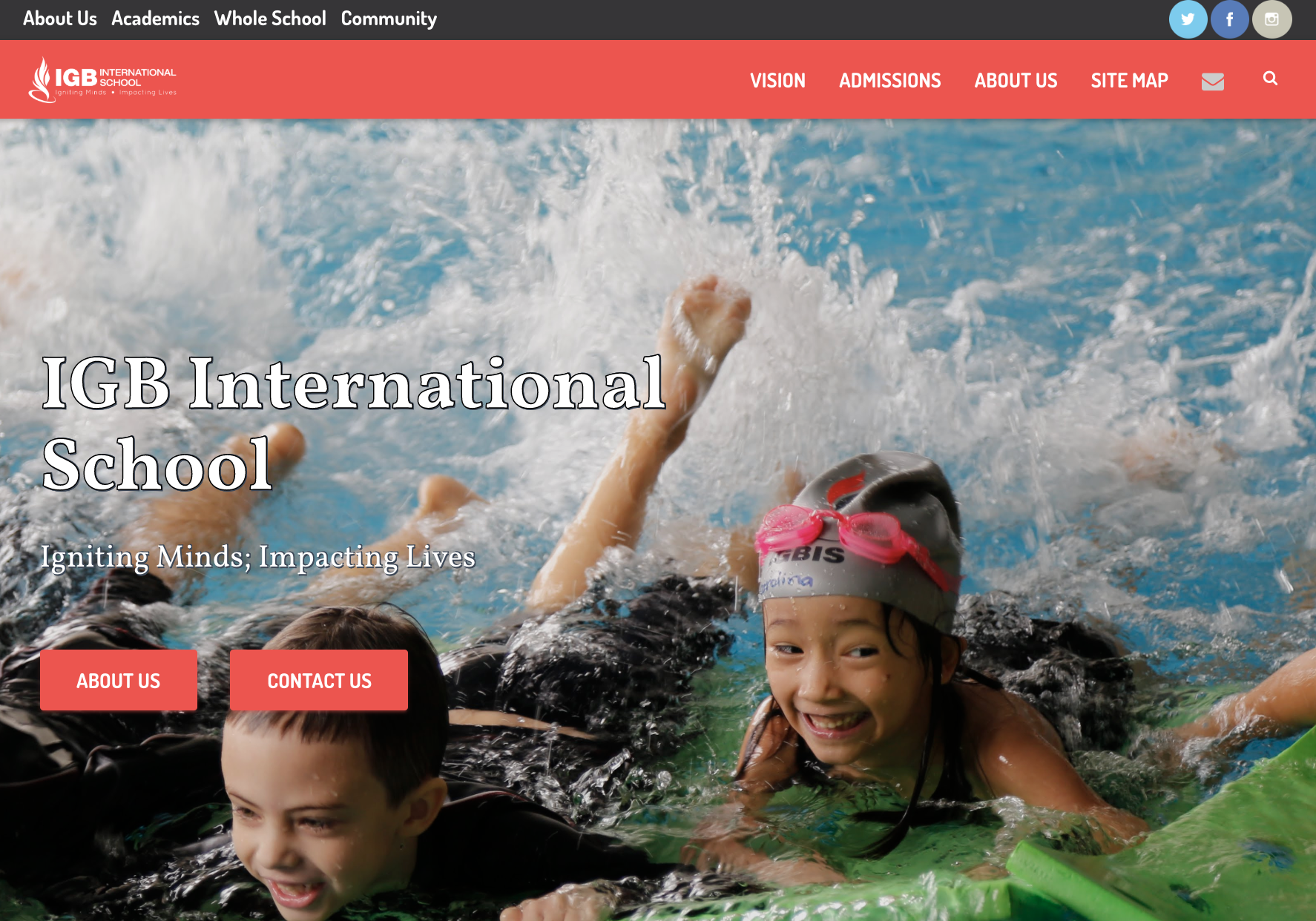 IGB International School  uses WordPress for marketing and community building.