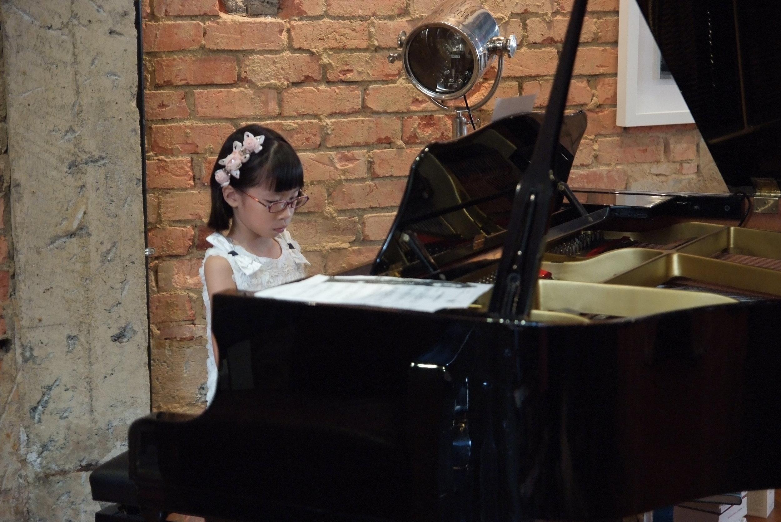 Sarah Tan, in her Piano Lesson Recital