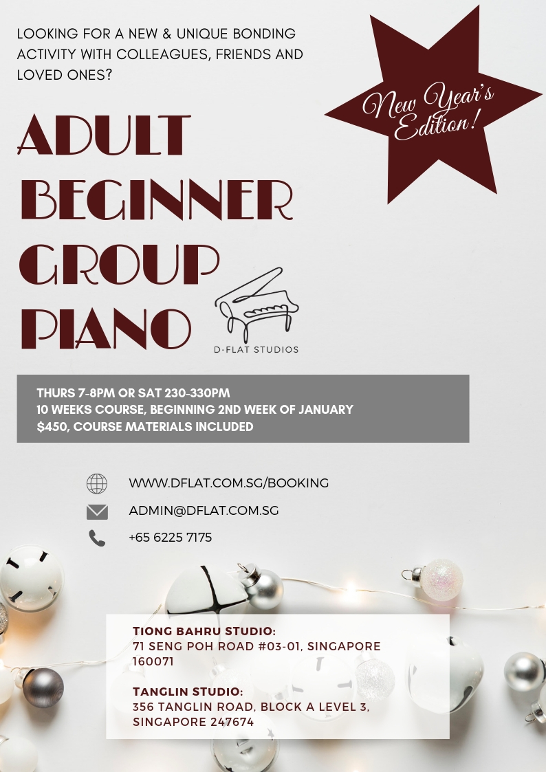 Adult Beginner Piano Group Class - January 2019