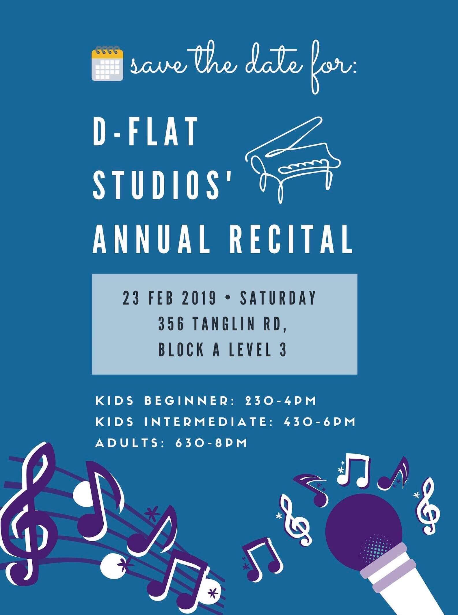 Our Annual Recital - 23rd Feb 2019