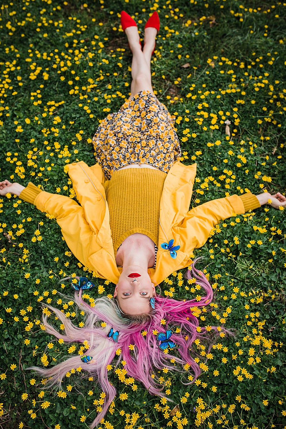 colorful and creative spring portrait photography in Lancaster, PA