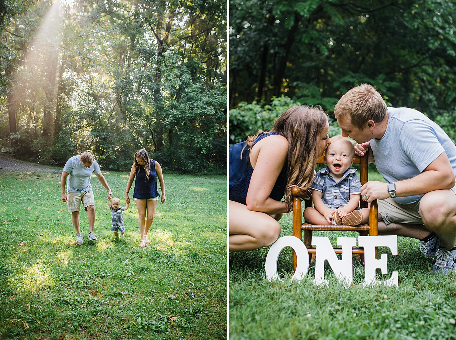 one year photo session at Lancaster County Park