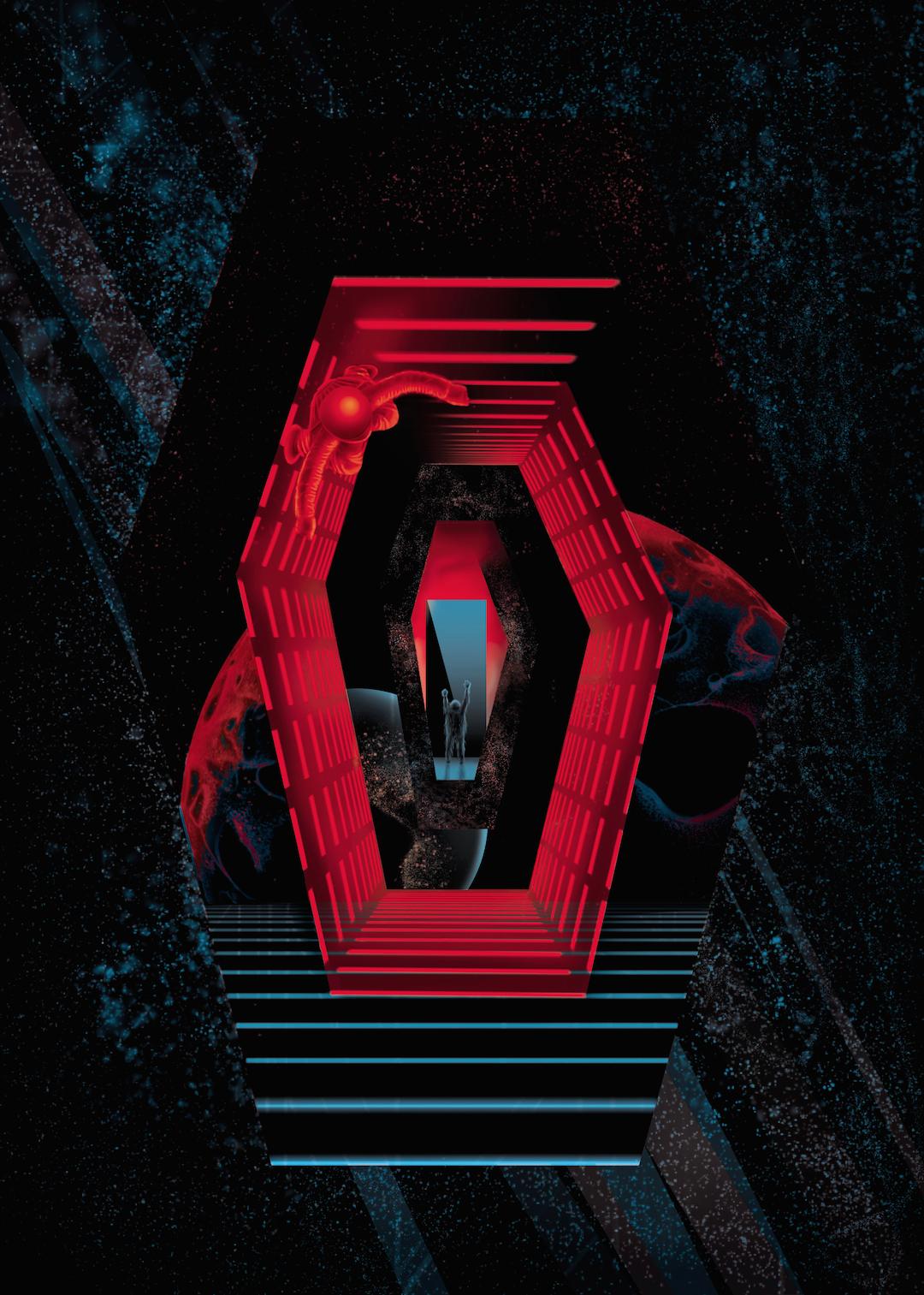 """2001:A SPACE ODYSSEY: COVER""  Digital, 11""x14"", 2016"