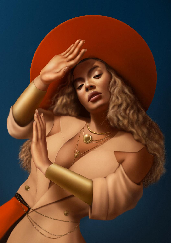 "Beyoncé, ""To Be""  Digital, 12""x17"", 2019   Illustration Award: 3x3, Creative Quarterly"