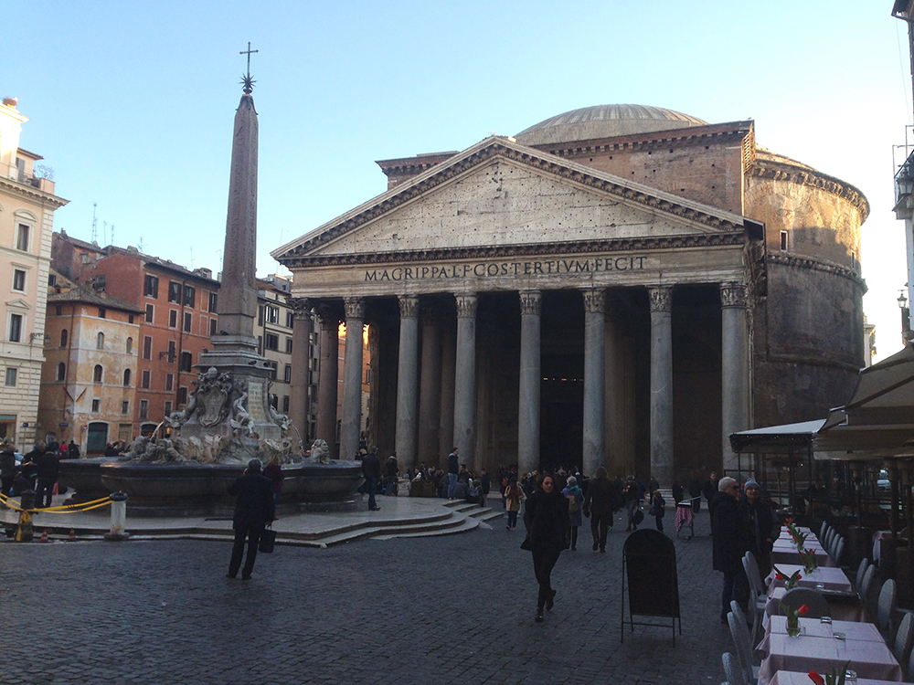 We found the Pantheon as the sun began to set.