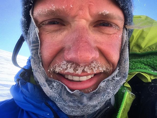 Proof I'm capable of growing enough facial hair to have it freeze in Antarctica. #frostyboy #selfiesunday #skidavida