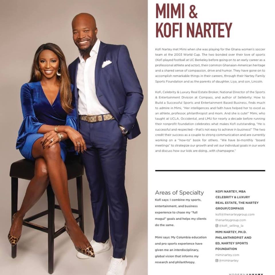 "NSF Co-Founders Named 2019 LA ""Power Couple""  - Kofi and Mimi Nartey honored by Modern Luxury Angeleno magazine for the second year in a row.  Read More…"
