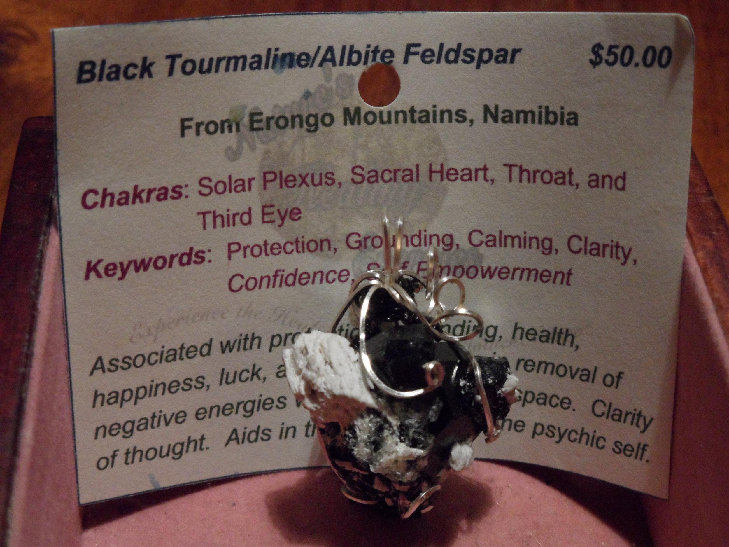 Black Tourmaline/Albite Feldspar