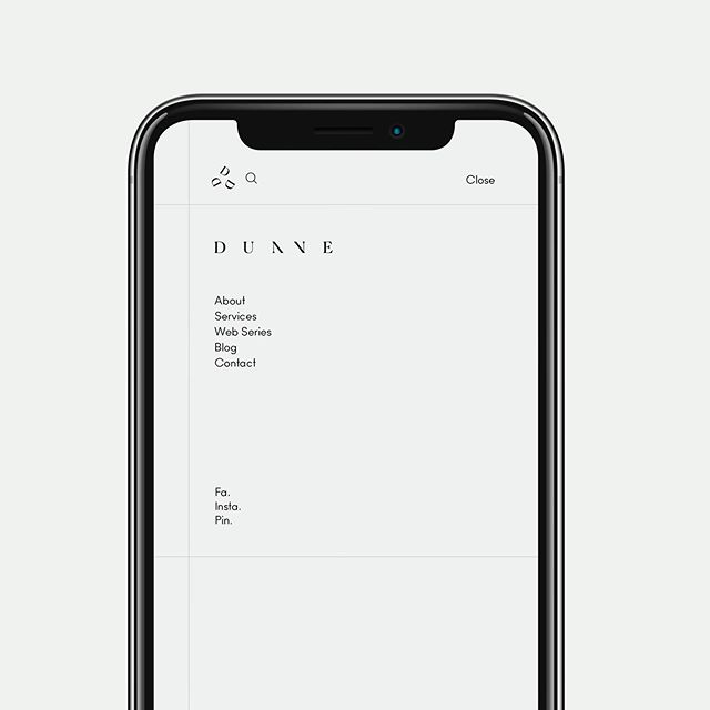 Sneak peek. Someone's getting a digital makeover. Subtle and sleek is the vibe for @dunne.interiors new digital home ~ coming soon.