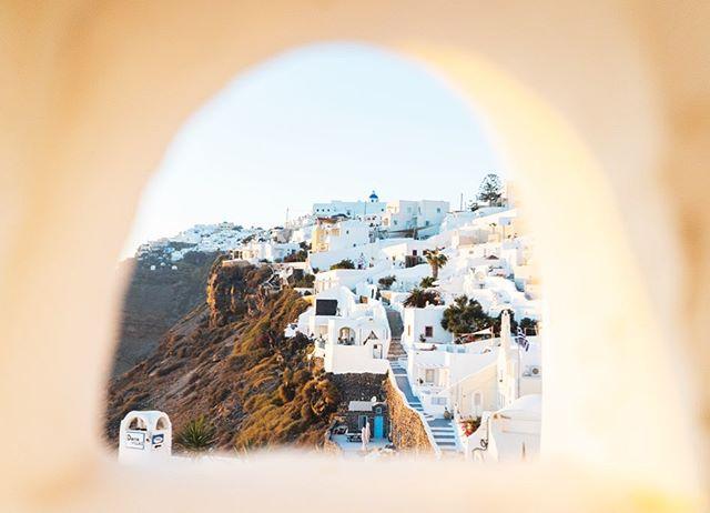 A window into the Santorini terraces  I miss Greece 😢