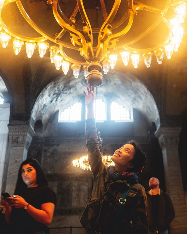 TBT to visiting Hagia Sophia in Istanbul  Too bad the girl in the back had to 👀 during this pic