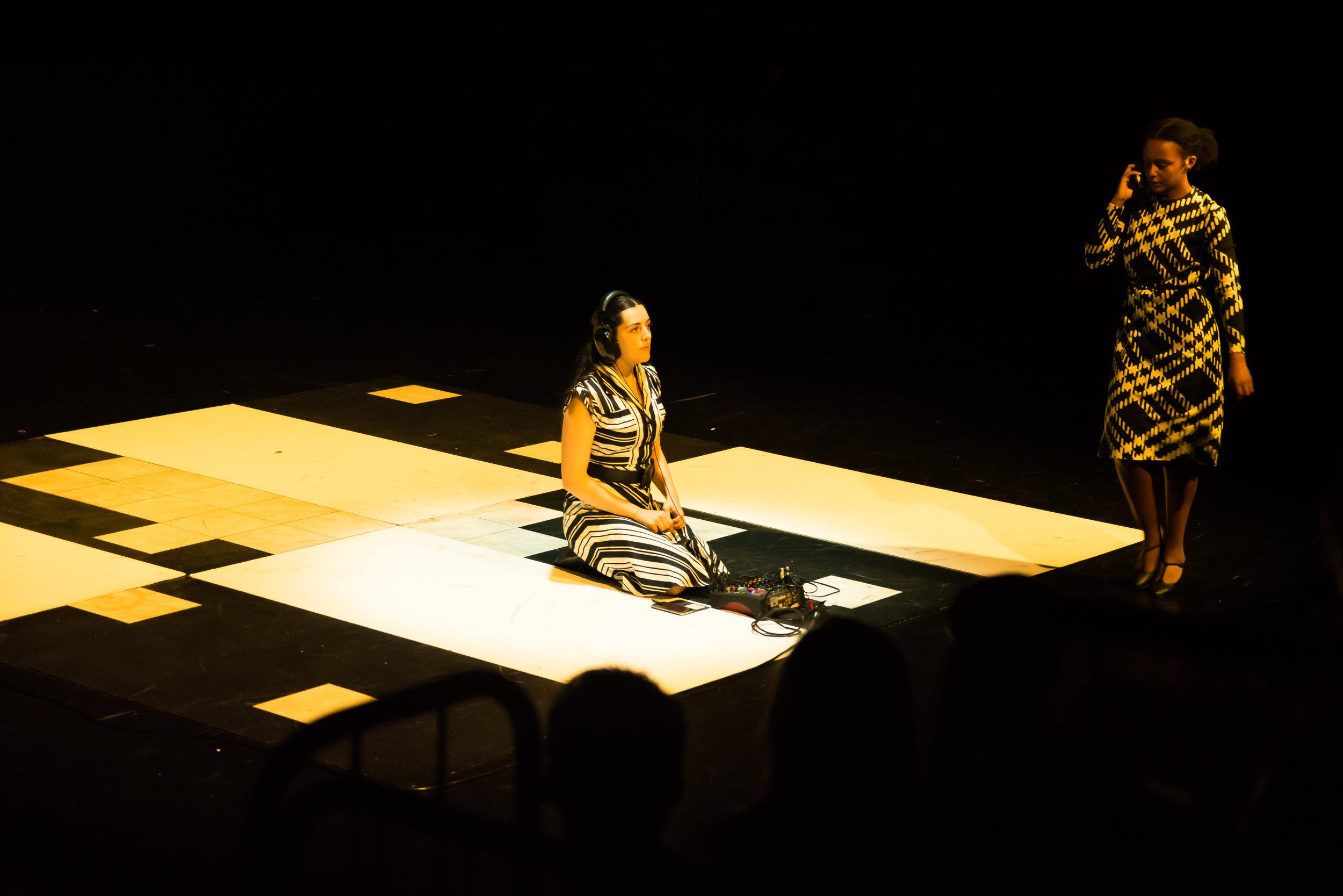 Kala and Tigist on stage during 'Mind'