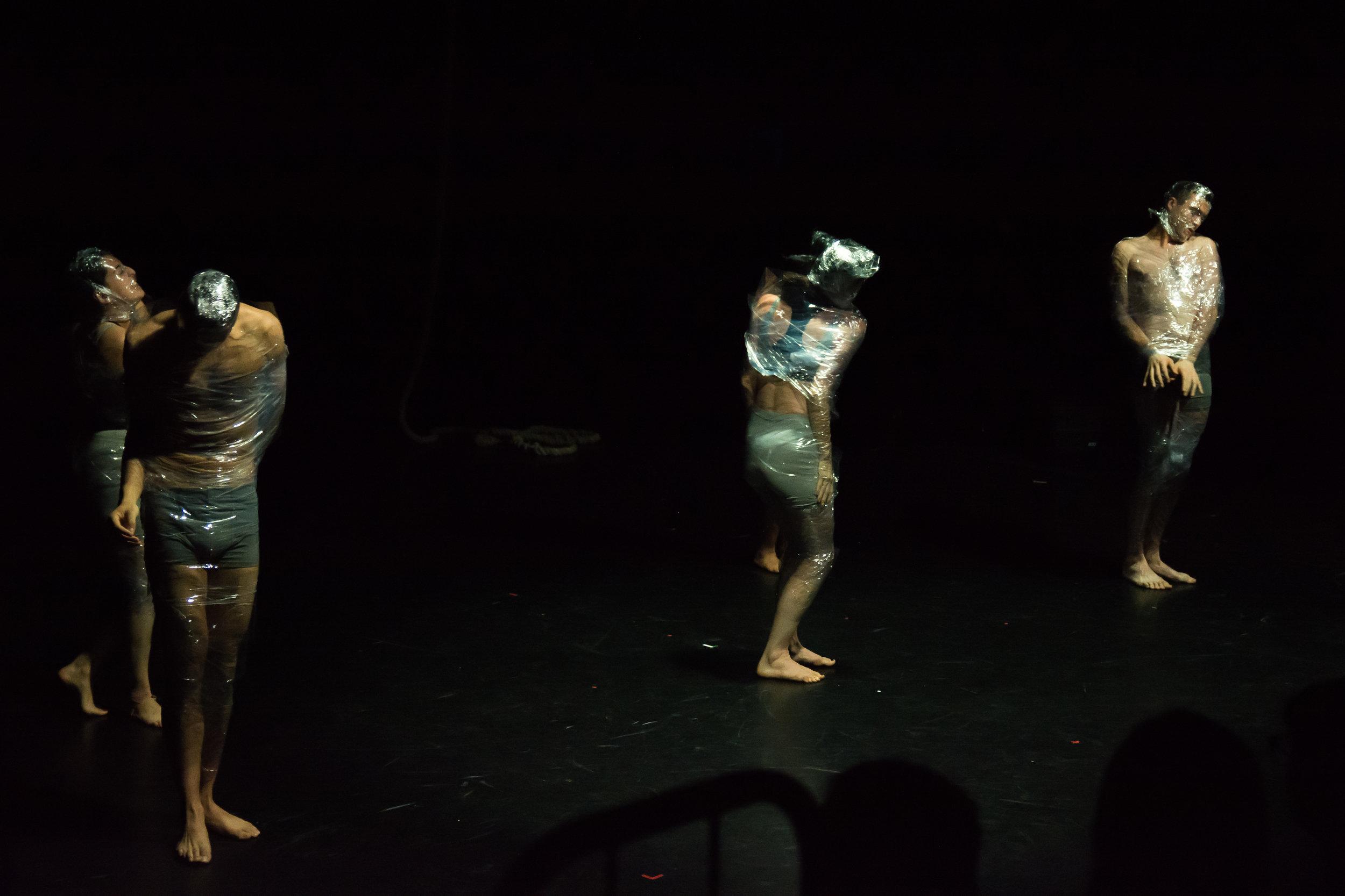 The performers beginning to break free