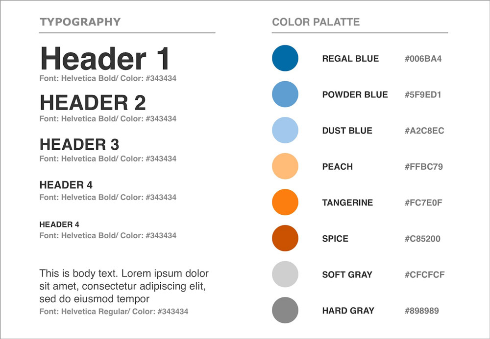 ACCESSIBILITY GUIDE: A high percentage of special needs students have accessibility requirements relating to color blindness. I found a color palette that was visible to the vast majority of color blindness varieties.