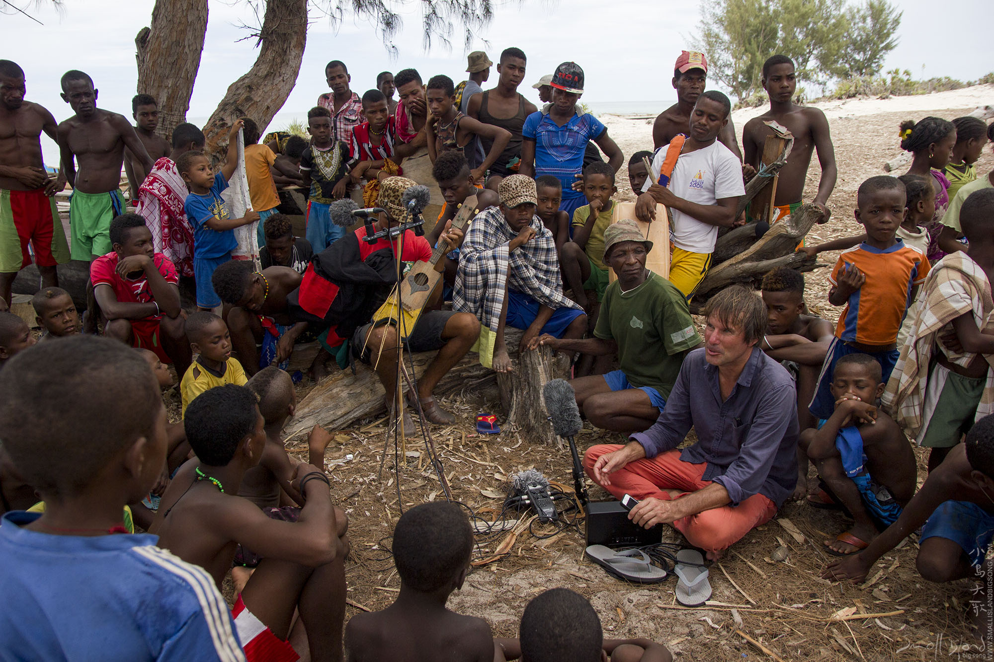 Small Island Big Song - image - Tim Cole recording 01 at Ankivo village West coast of Madagascar.jpg