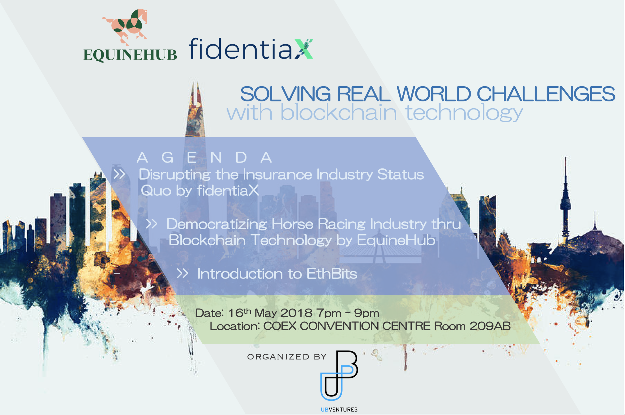 Solving Real World Challenges with Blockchain Technology Seoul Event