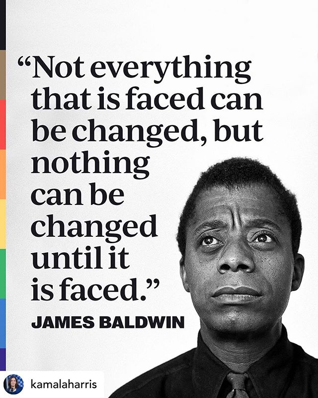 Some wisdom and inspiration for your Monday. #pride #blacklivesmatter #resilience  Posted @withrepost • @kamalaharris Known for his insightful writings on race, spirituality, and sexuality, author James Baldwin gave voice to the internal quest for acceptance. Throughout his life, he made a lasting impact on people both at home in the United States and abroad.