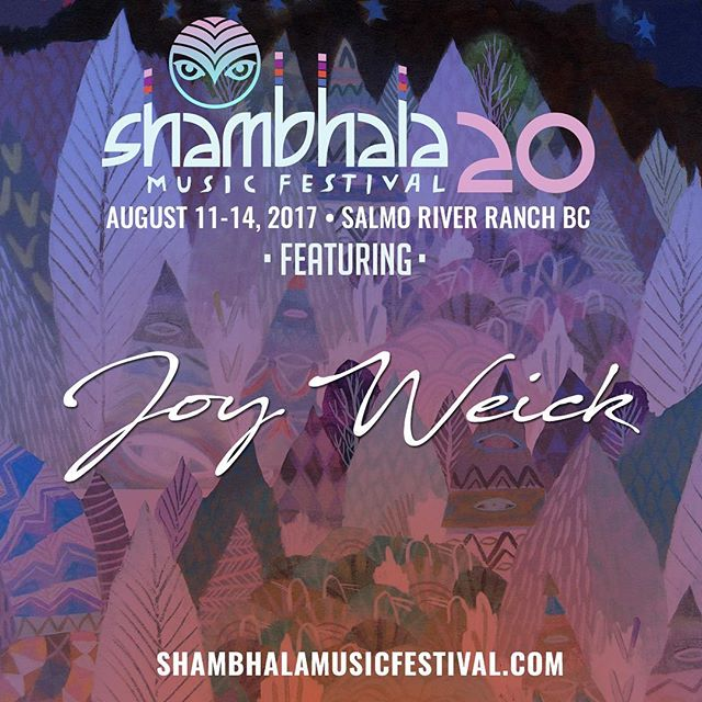 Excited to see all the gnomies at @shambhala_mf!! Farm bound soon, catch me performing at the @grove_stage all weekend 🌲🎪✨ . . Friday 12am  @antennaemusic  1:30am  @ivylab . . Saturday  11:30pm  @thepolishambassador  1:00am  @clozeemusic . . Sunday  11:30pm  @mariboustate  1:30am  @phaeleh_