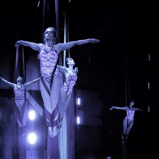 Sneak peak backstage from yesterday's dress rehearsal!! @discovercircus premiers our fundraiser 'The Birds Who Flew Beyond Time' tomorrow at the @nelsontheatre at 4pm and 7pm. Tickets are moving fast! Not to be missed ;) .  Featuring our stunning level II adult silks class during their Underwater scene in custom bodysuits from @seaofwolves. .  #discovercircus #nelsonarts #nelsonbc  #civictheater #fundraiser #circus #circusarts #aerial #aerialsilks #aerialfabric #lyra #aerialhoop #acroyoga #acro #hoolahoop #hoopflow #flowarts #communityevent #aerialarts #kootenaylife #kootenaymountainculture #findingawesome #seaofwolvesdesign #circuseverydamnday