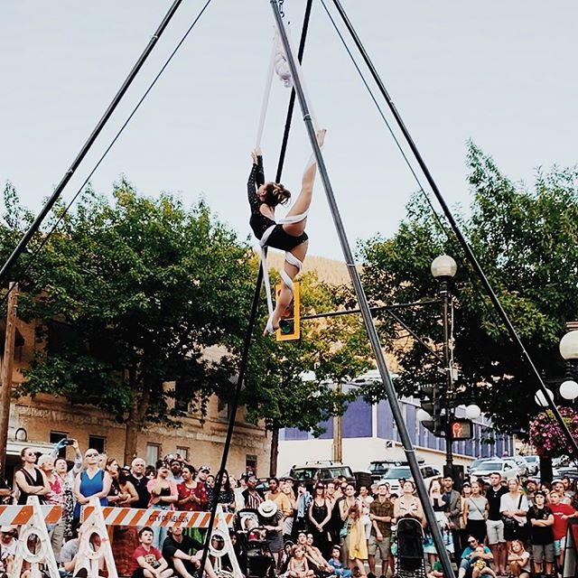 Thanks to the @westkootenayecosociety for hosting myself and @discovercircus at this year's #marketfest this past weekend!! Inspiring to witness the grace and presence our talented students brought to the stage. Proud coach moment, for sure 😌✨ Always a pleasure to perform locally, thanks to all who came out! . . Getting very excited for @kaslojazz!! Catch aerials every night at the main stage with @mandolin_orange, @nahkobear, @rrtfb, @galacticfunknola, @anidifranco and @khruangbin 😍 . . . . . #marketfest #nelsonbc #westkootenayecosociety #discovercircus #communityempowerment #circus #circusarts #aerial #aerialsling #aerialsilks #aerialnation #aerialbeauty #circusaroundtheworld #aerialistsofig #aerialistsofinstagram #kaslojazzfest #jazzlo