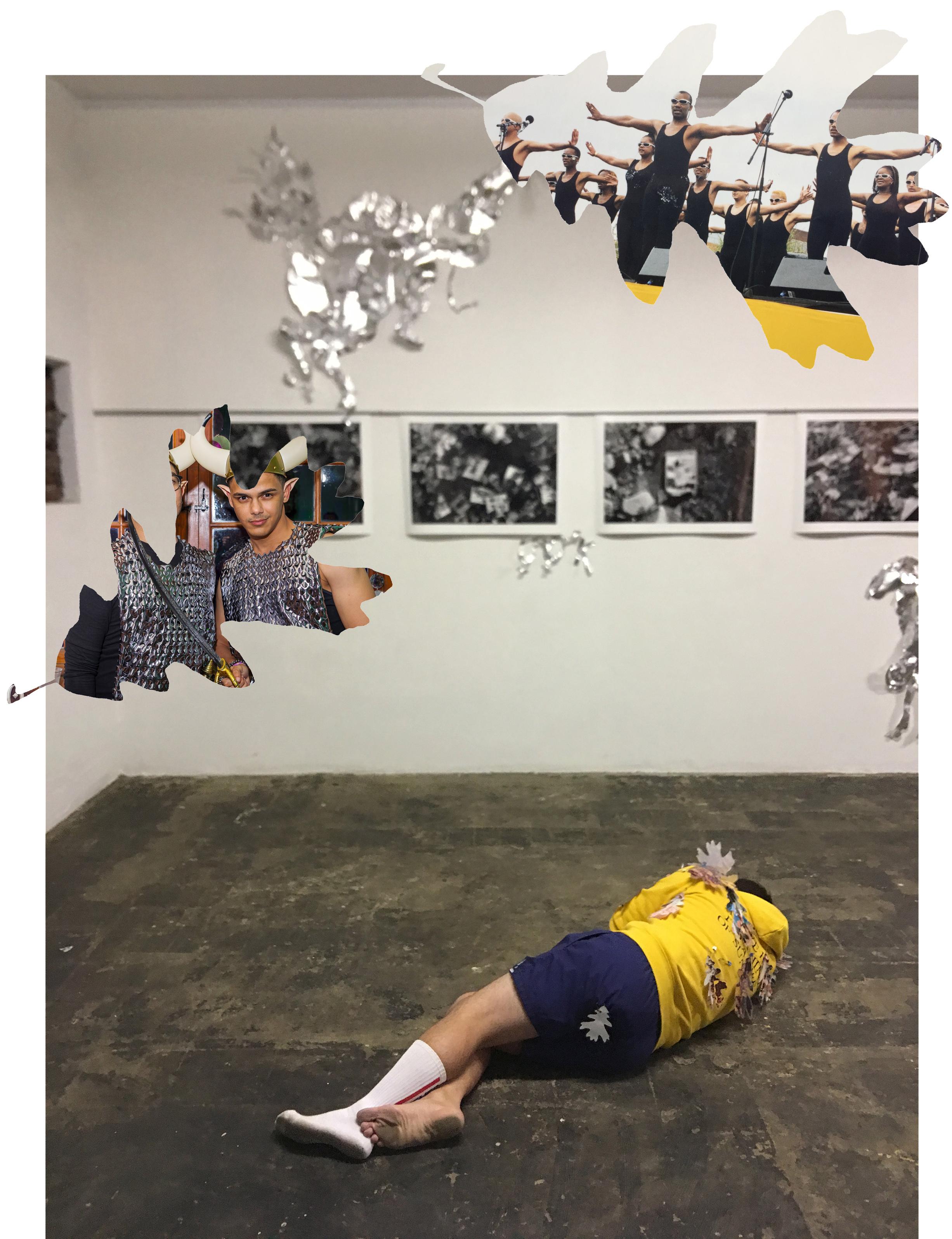 Words Beneath Bridges  (2018) Performance view met collage