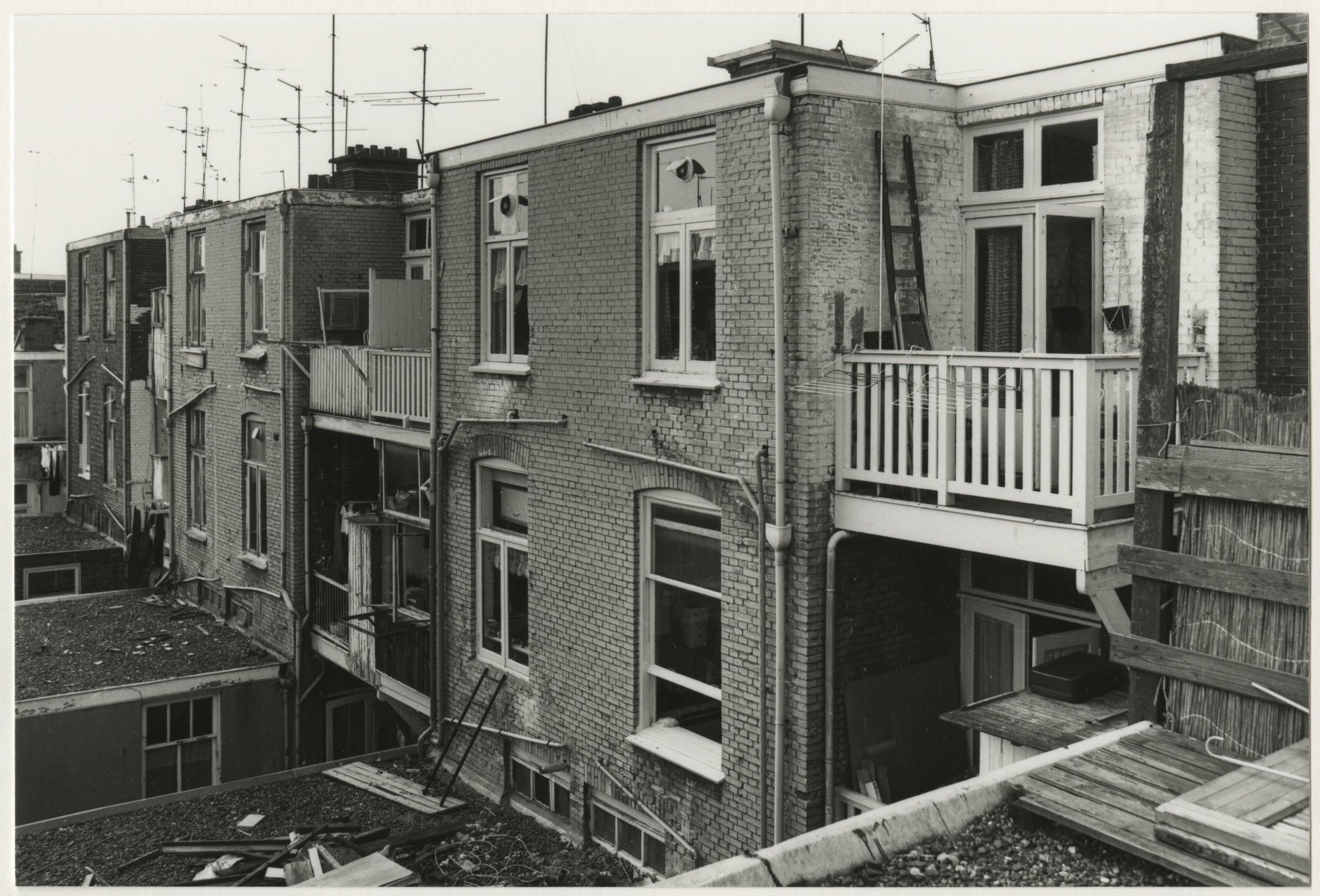 Achtergevels Kockstraat (1981) / Argieffoto