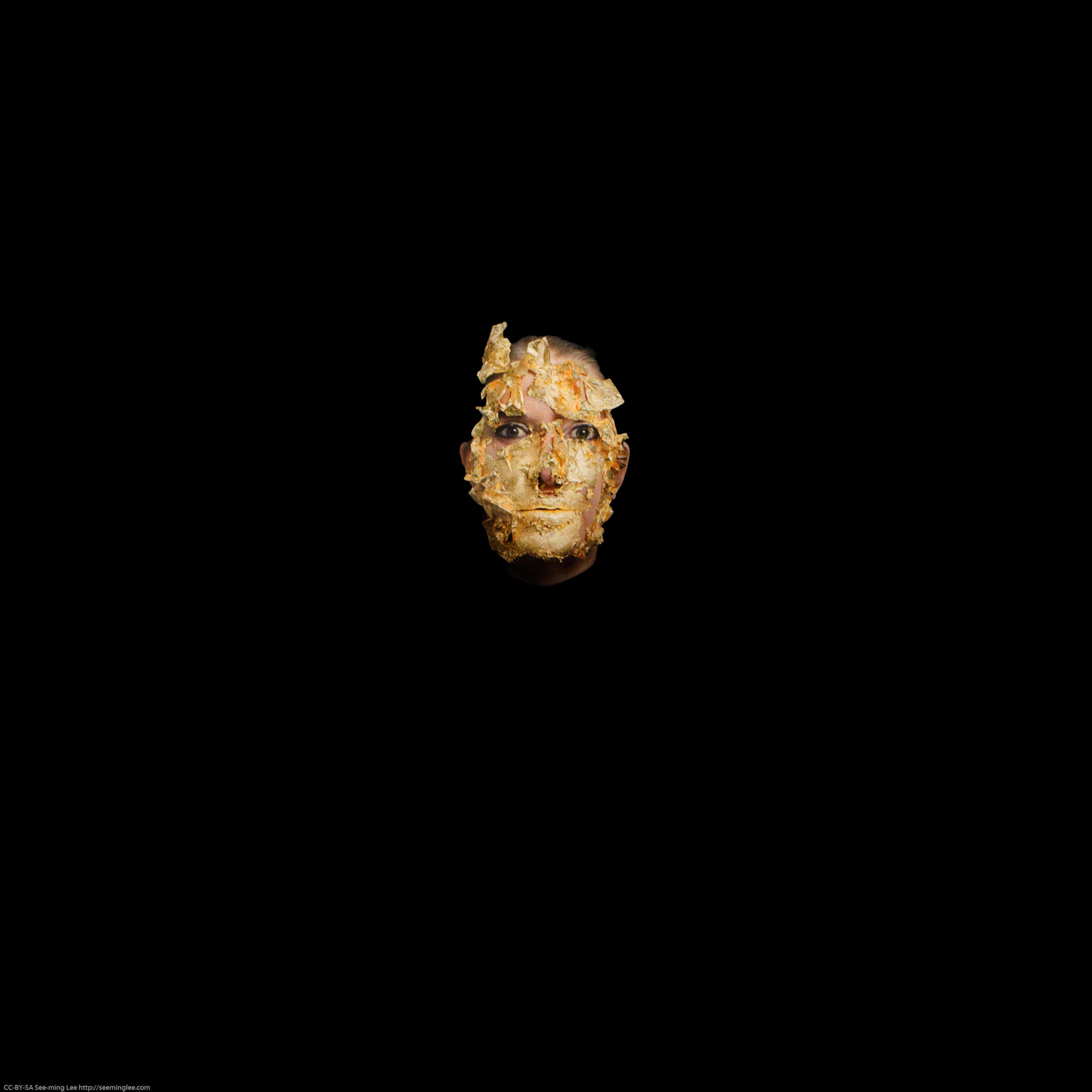 Marina Abramović,  Golden Mask  (2009), Lia Rumma Galleria.