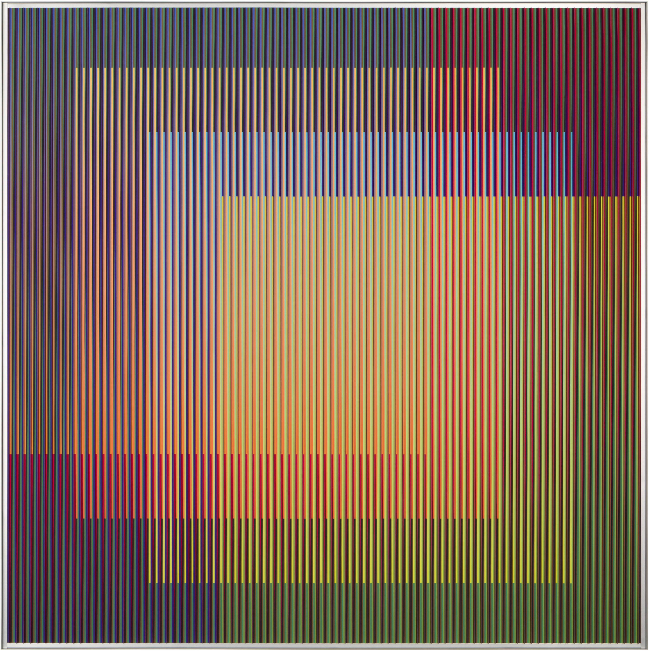 Carlos Cruz-Diez,  Physichromie 1876  (2013), Galerie Pascal Janssens.
