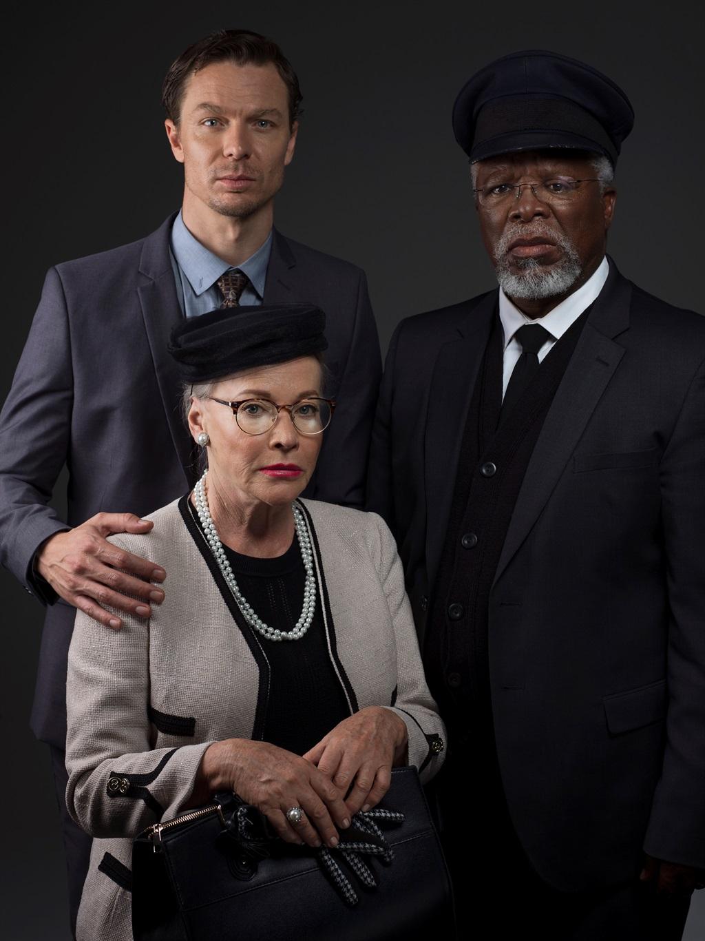 John Kani saam met Sandra Prinsloo en Jacques Bessenger in  So ry Miss Daisy .   Foto: Antonia Steyn