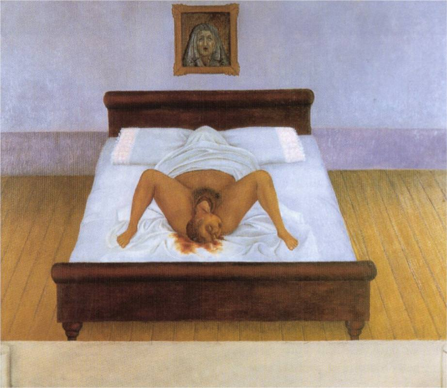 Frida Kahlo,  My birth  (1932)