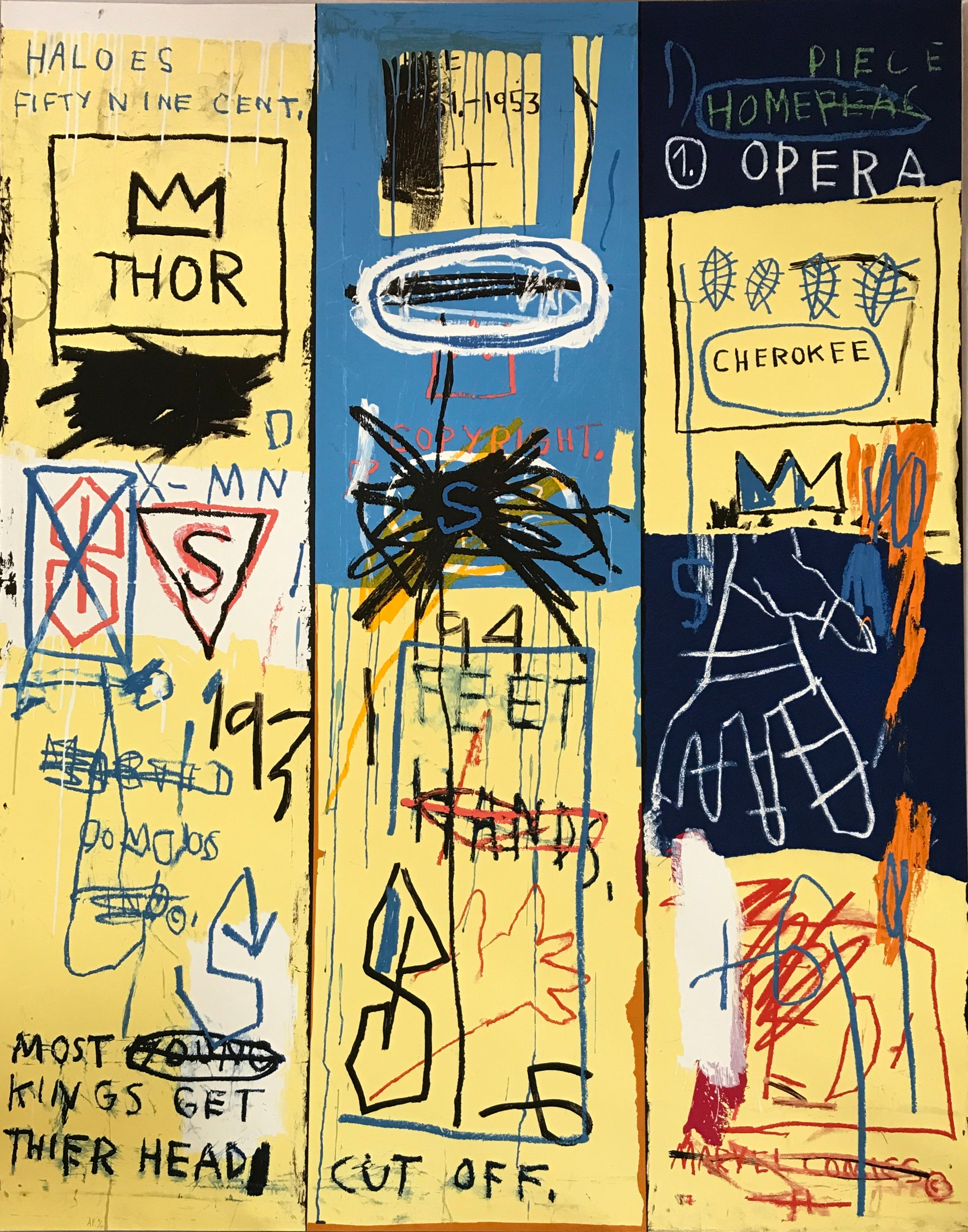 Jean-Michel Basquiat,  Charles the First  (1982)