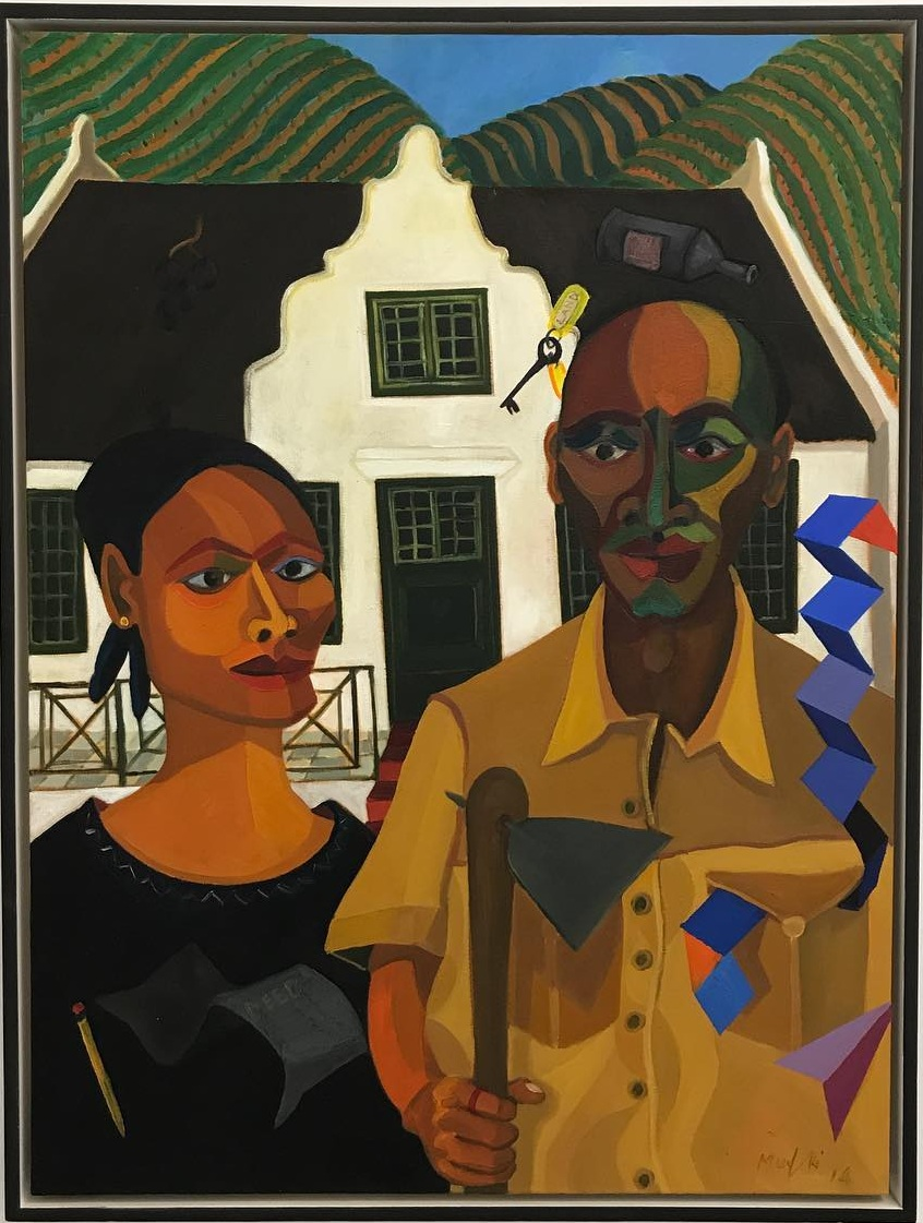 Richard Mudariki,  The New Farmer and His Wife  (2015)