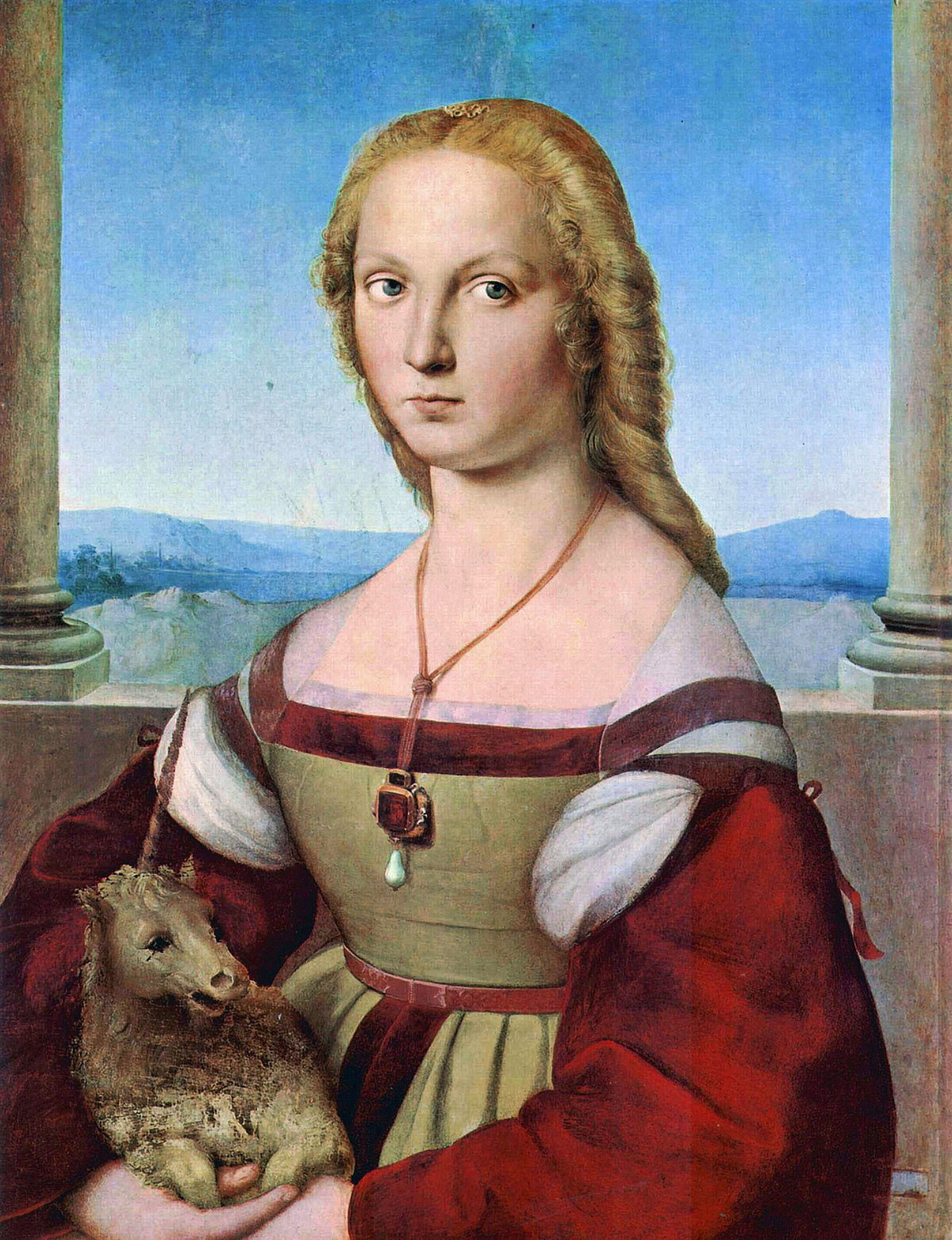 Raphael,  Portrait of Young Woman with Unicorn  (c. 1505-1506)