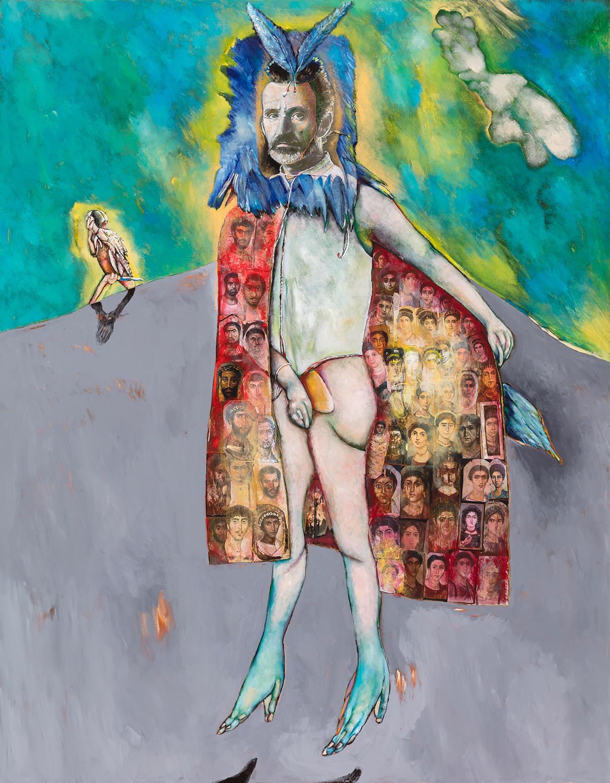 Autoportrait avec cape de Fatoum , 2018