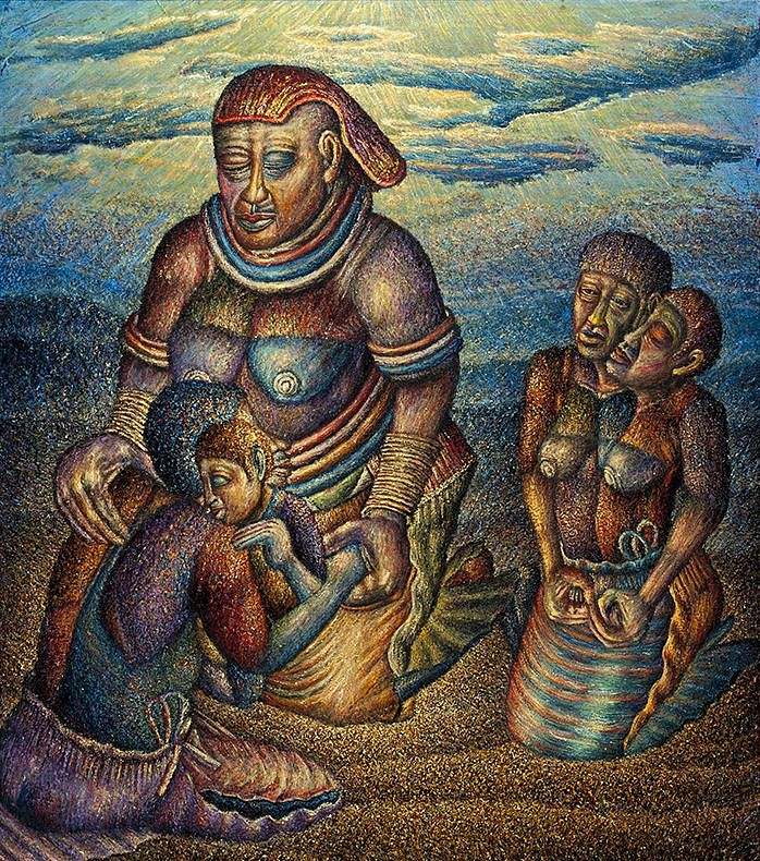 'The Grandmother Receives The Lost Children'  (2014 - 2015)