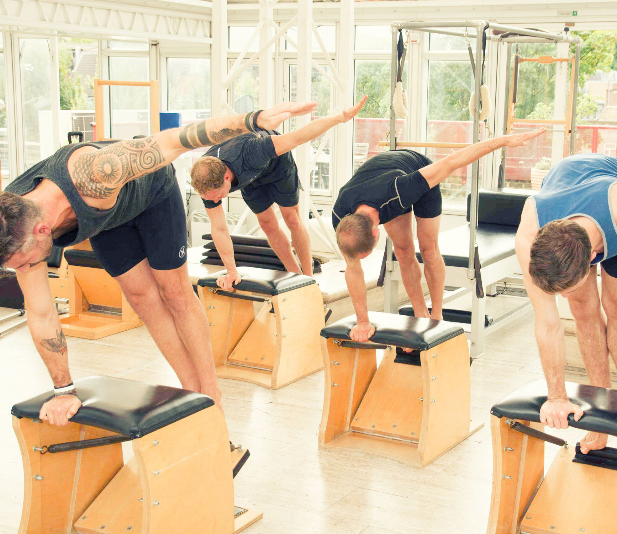Barrels and Chairs Class (from £28) - This is a challenging small group workout, in which you will develop stamina, balance, concentration and stability using the smaller apparatus in the studio.