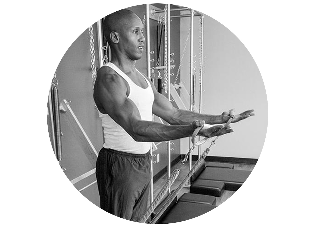 Chris Robinson - As a lifelong athlete, Chris Robinson is constantly in pursuit of peak performance. With great passion and energy, the Houston native brings that drive to the service of his clients, including Oprah Winfrey, for whom he acts as personal core coach.A certified Pilates instructor and author of 'The Core Connection' with more than 20 years of fitness professional experience, Chris learned his craft directly from Pilates legend Romana Kryzanowska and continues to learn from Jay Grimes. He is a two-time Muay Thai kickboxing champion, trained by Saekson Janjira and was a collegiate track and field athlete at San Diego State University, where he earned a degree in Kinesiology.