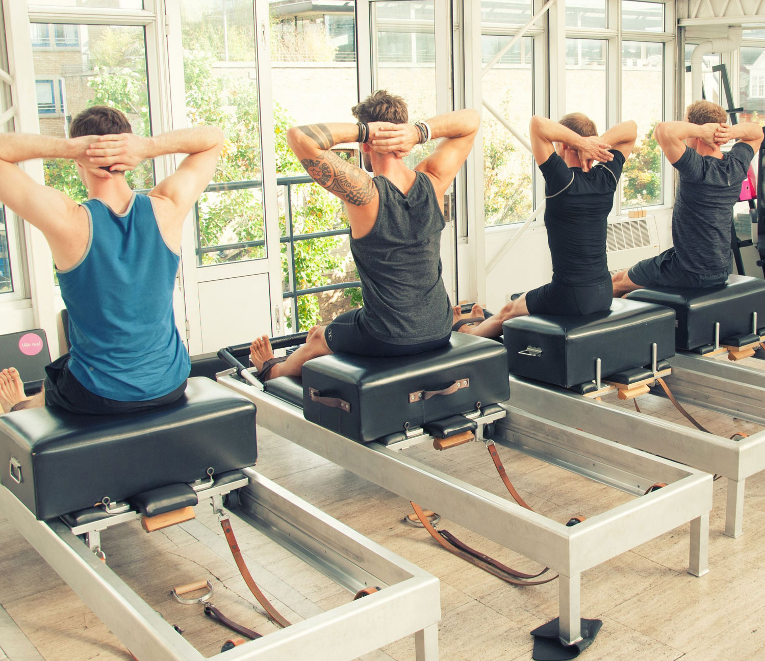Intro Level Studio Class (from £28) - This Intro level class is your foundation to the full apparatus in a small group setting. Get one on one hands on time with your favourite teacher. A Studio Class is the Pilates workout that blends group training with private sessions so you can maximise your time and results.