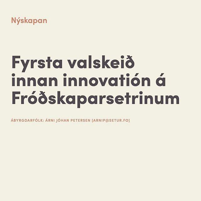 Hov! Hvat er nú hettar? Eitt skeið innan innovatión á @setur.fo ? #innovation #nýskapandi #setur
