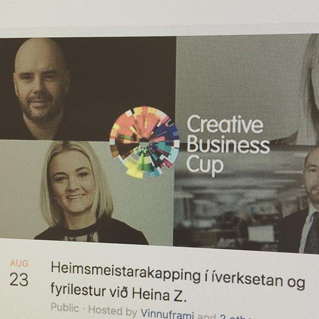 So er tað NÚ tú skalt skráseta teg til heimsmeistarakappingina í íverksetan #CreativeBusinessCup. Finn tiltakið á Facebook! @hugskotid @iverksetarahusid @vinnuframi @setur.fo