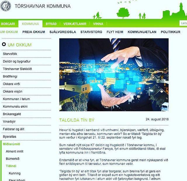 #hackathon #TalgildaTínBý tann 21. og 22. september í Sjóvinnuhúsinum. #50.000 eru uppá spæl! Meira á www.torshavn.fo @hugskotid @torshavnar_kommuna