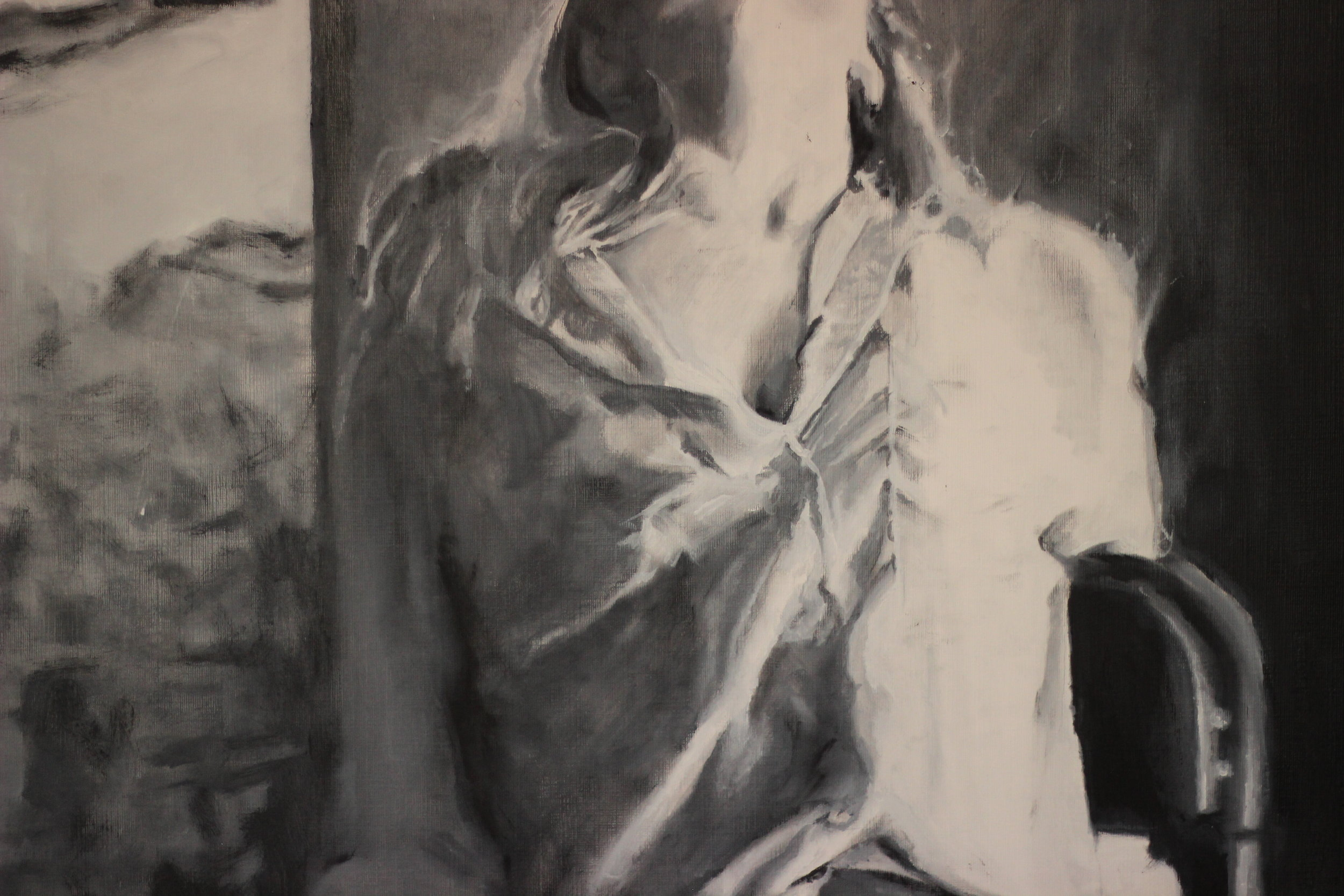 .. of 'pushing paint,' breathing fumes, dripping oils and wiping ..