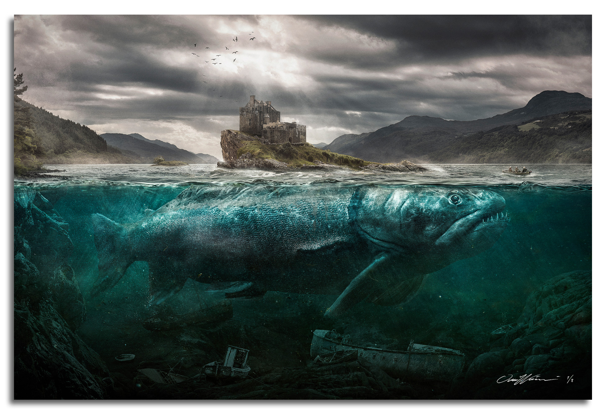 Loch Ness Salmon , 2018  Limited Edition prints available sizes: Large 150 x 100 cm - Edition of 3 Medium 90 x 60 cm - Edition of 8