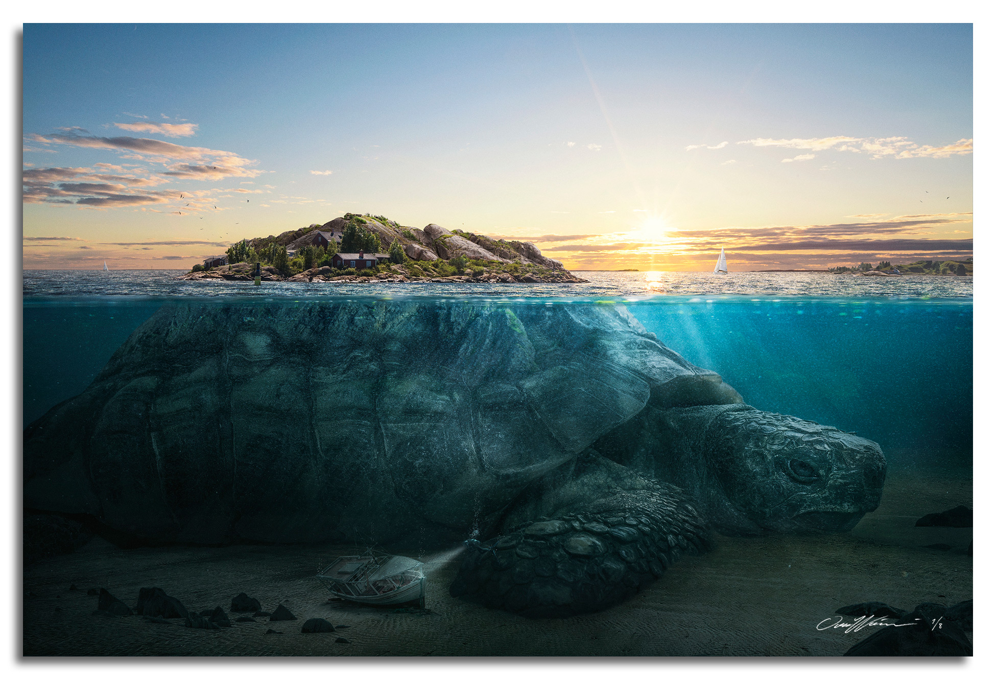 Turtle Island , 2017  Limited Edition prints available sizes: Large 150 x 100 cm - Edition of 3 Medium 90 x 60 cm - Edition of 8