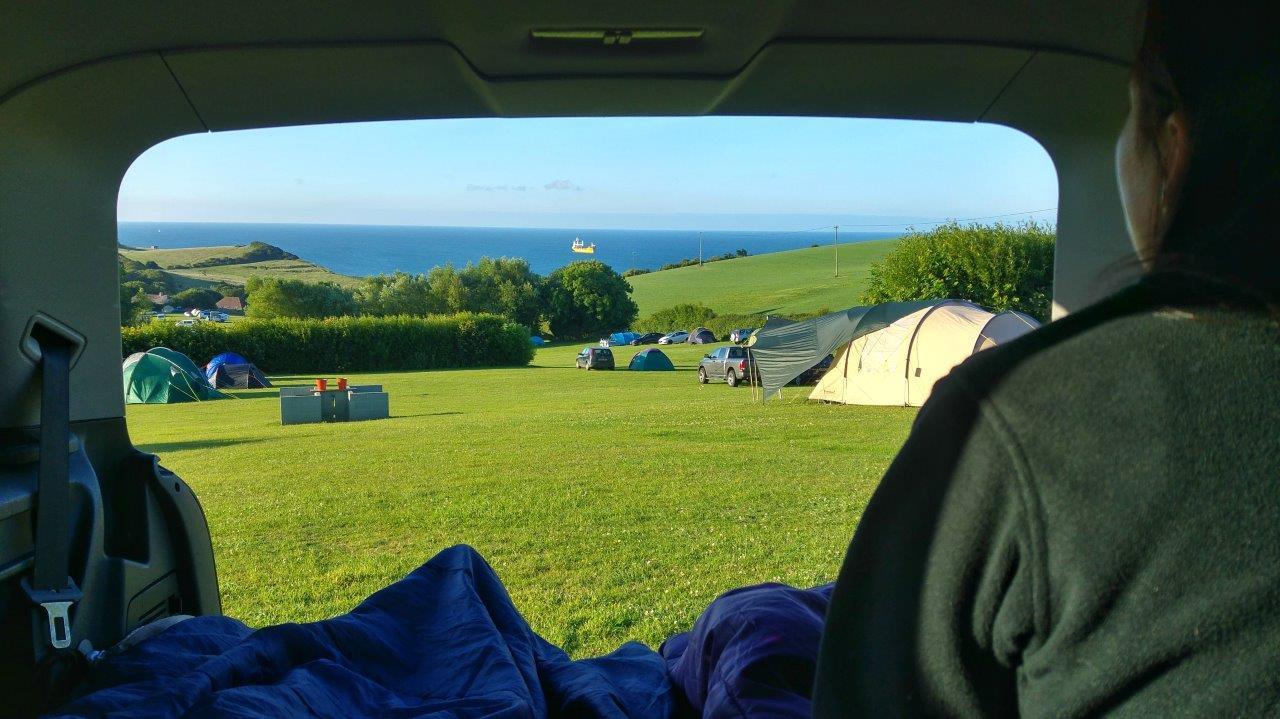 Reggeli kilátás, mikor a Zafirával kempingeztünk az angliai Devonban