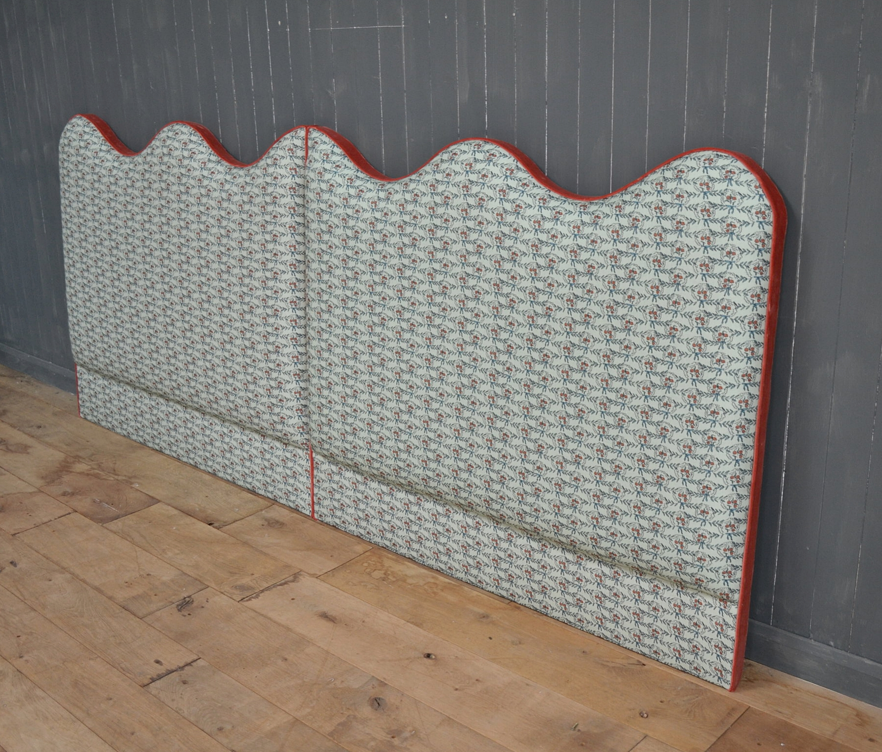 Bespoke - twin headboards with contrast edges