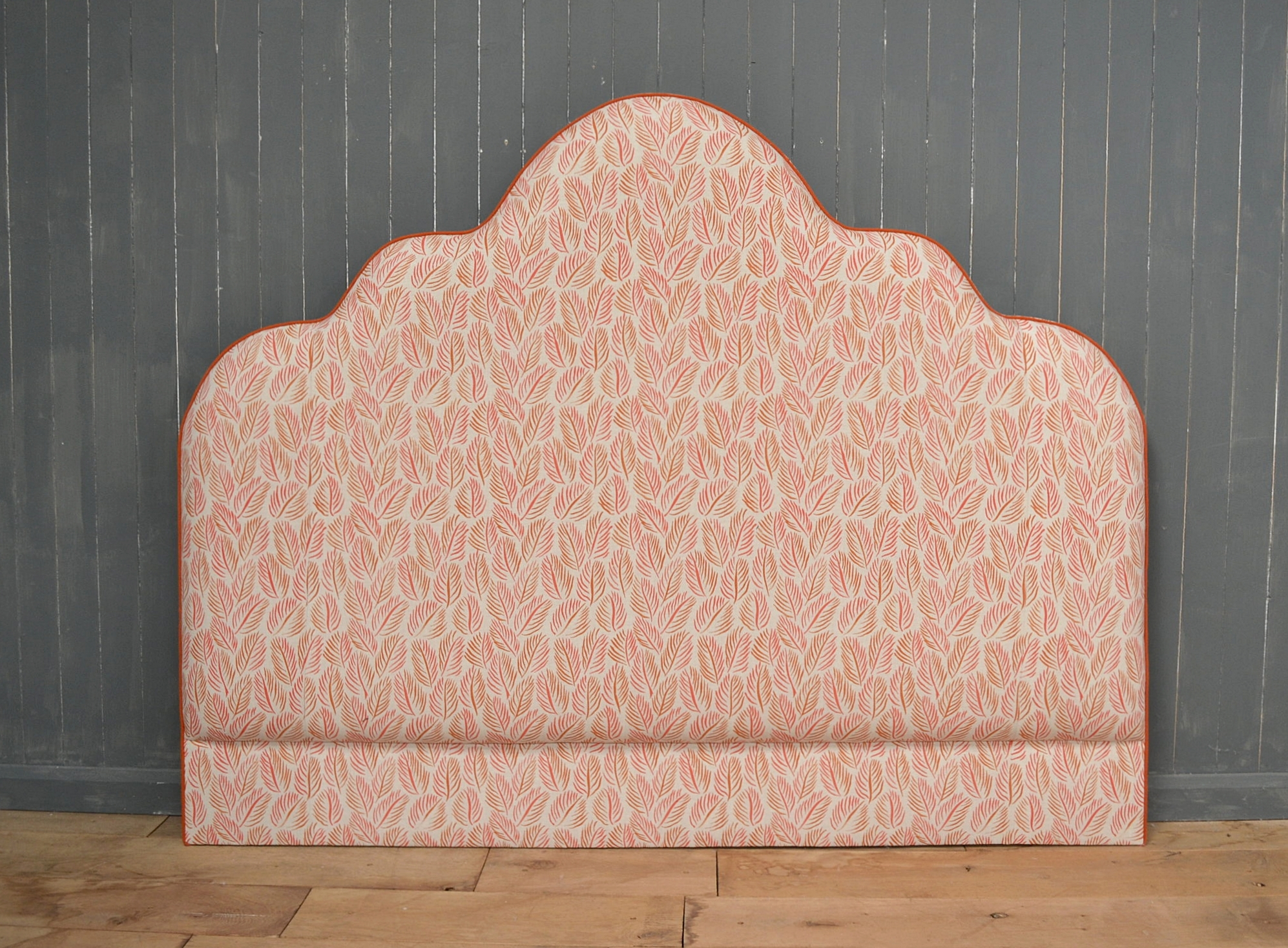 Bespoke Upholstered Headboard with contrast piping