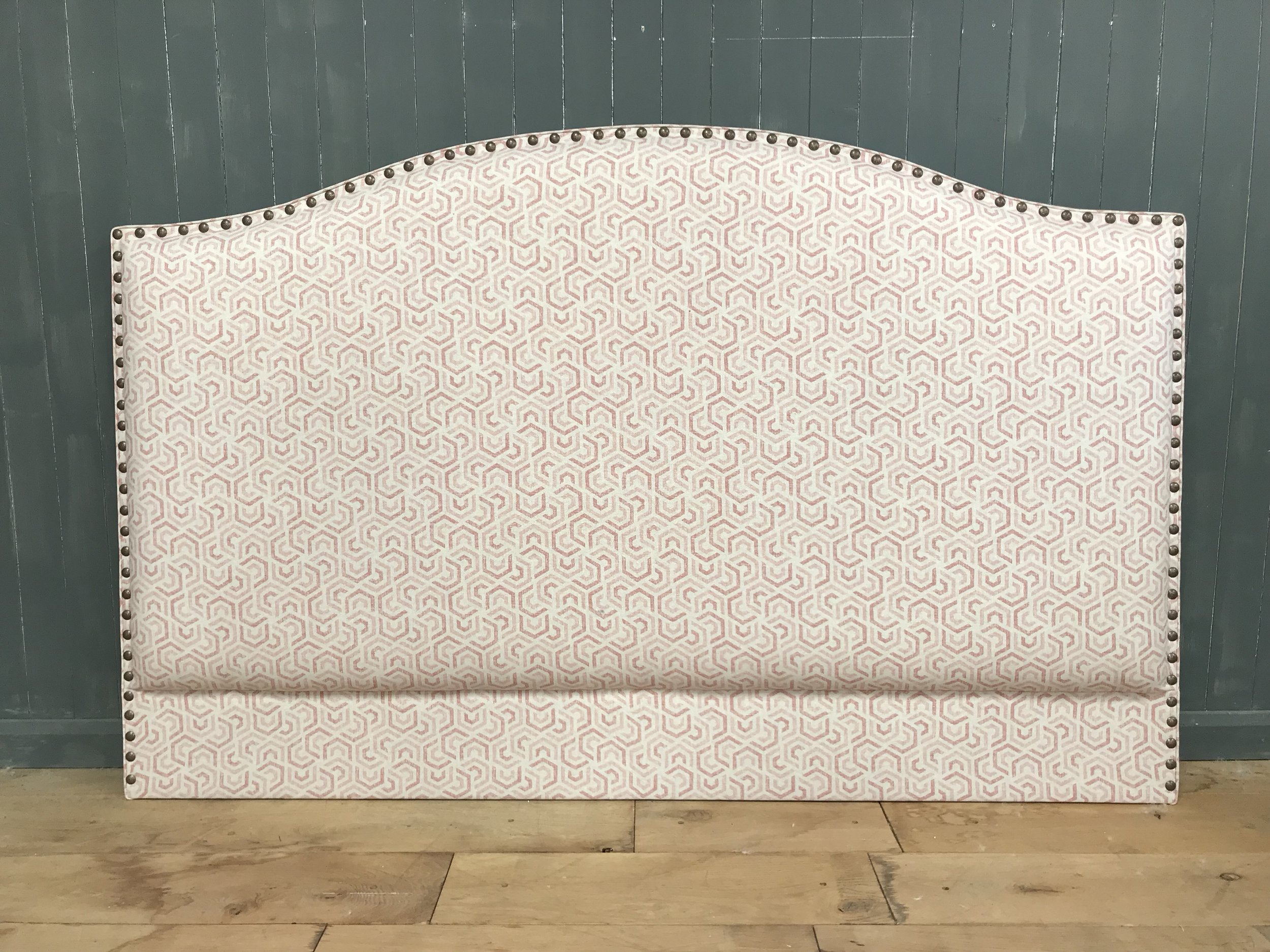 Bespoke Upholstered Headboard - space stud border