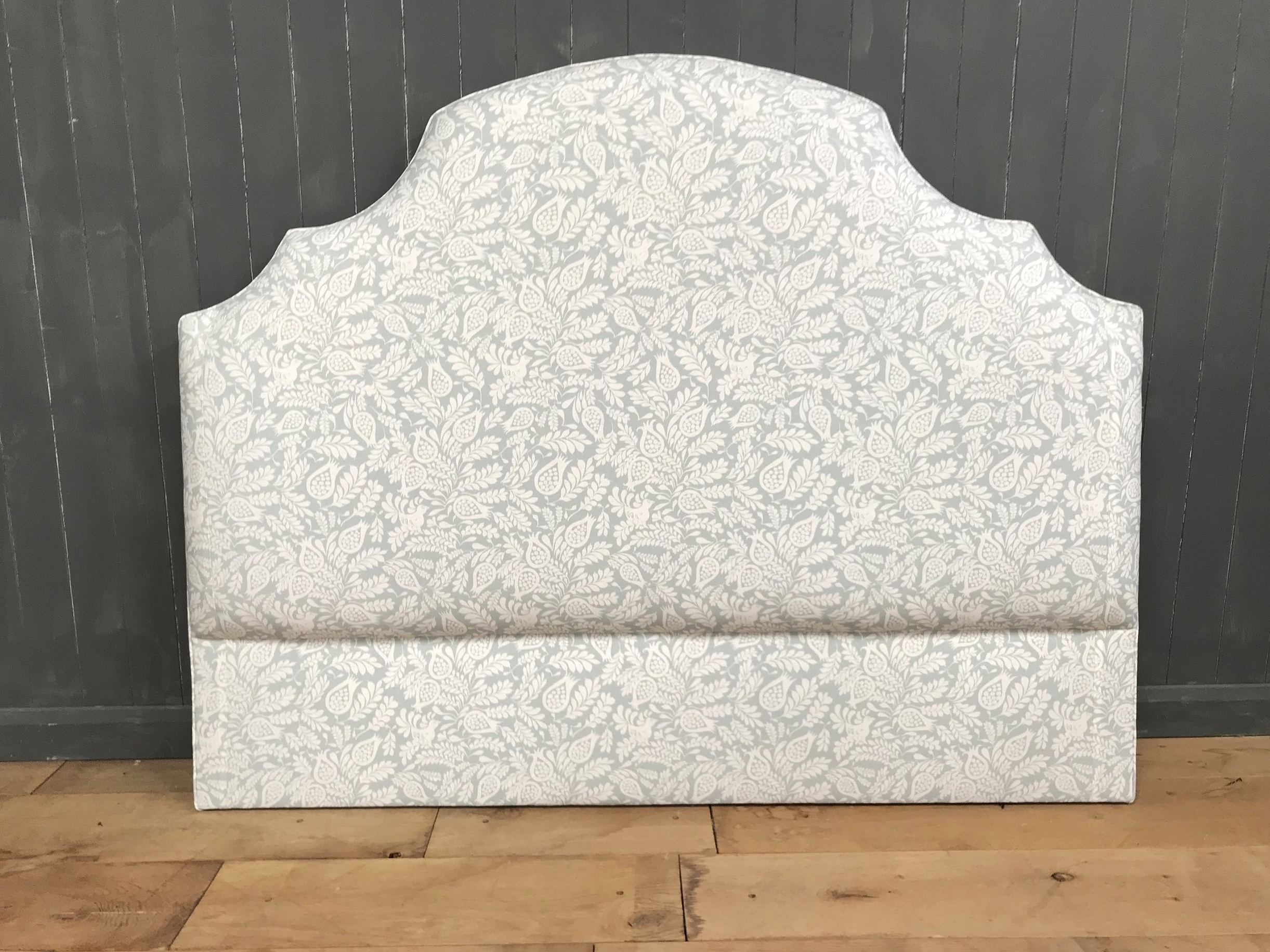 Bespoke Upholstered Headboard, self piped.